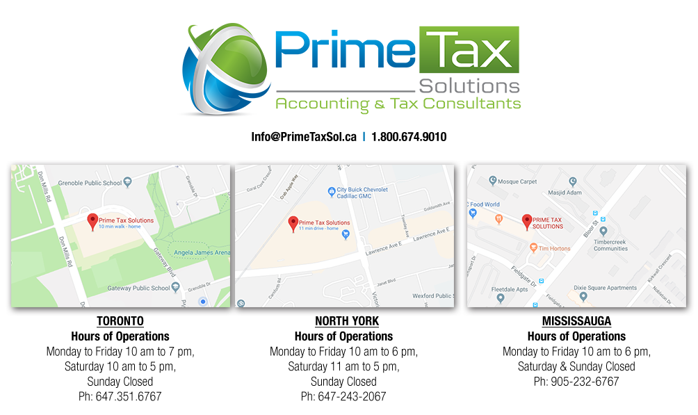 Uber Toronto Phone Number >> Contact Us - Prime Tax Solutions